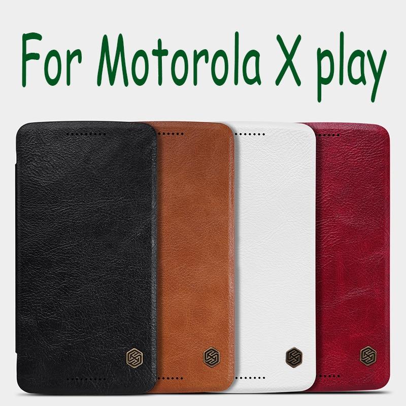Original NILLKIN leather case for Motorola X play XT1562 XT1563 Xplay 5 5 screen