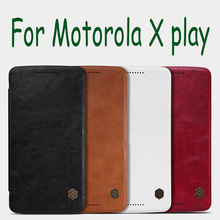 Original NILLKIN leather case for Motorola X play XT1562 XT1563 Xplay 5.5″ screen