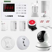 цена на Smarsecur A30 App Wireless GSM Alarm Security System Alarm  Burglar Security Intruder IP camera and smoke detector