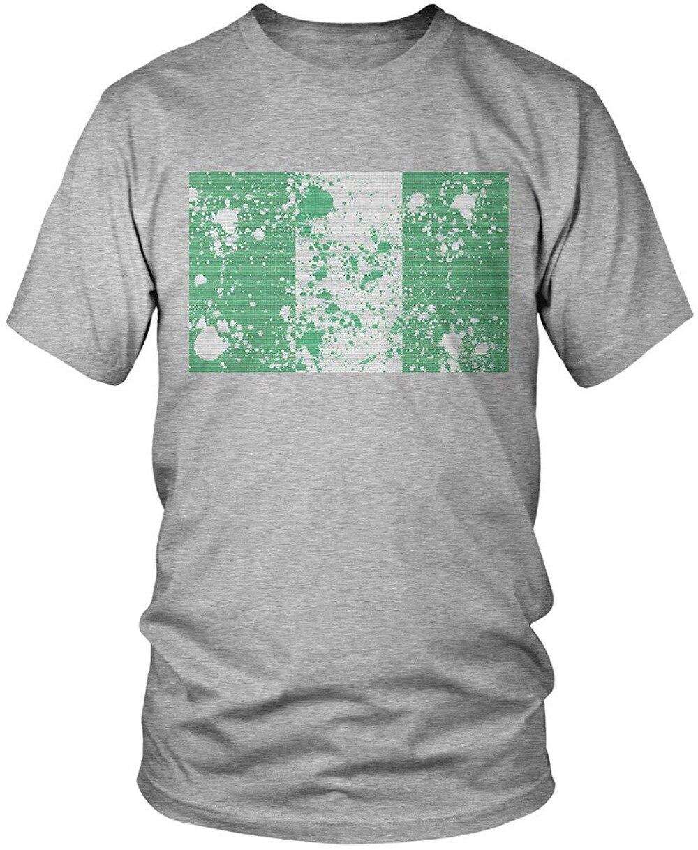 Shirt design in nigeria - 2017 Hot Sale Fashion Nigeria Flag Faded Abstract Nigerian Flag Men Funny Casual Streetwear Hip
