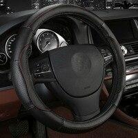 4Colors Cowhide Car Steering Wheel Cover Size 38cm For Volvo S80L S60L XC60 V60 V40 V90