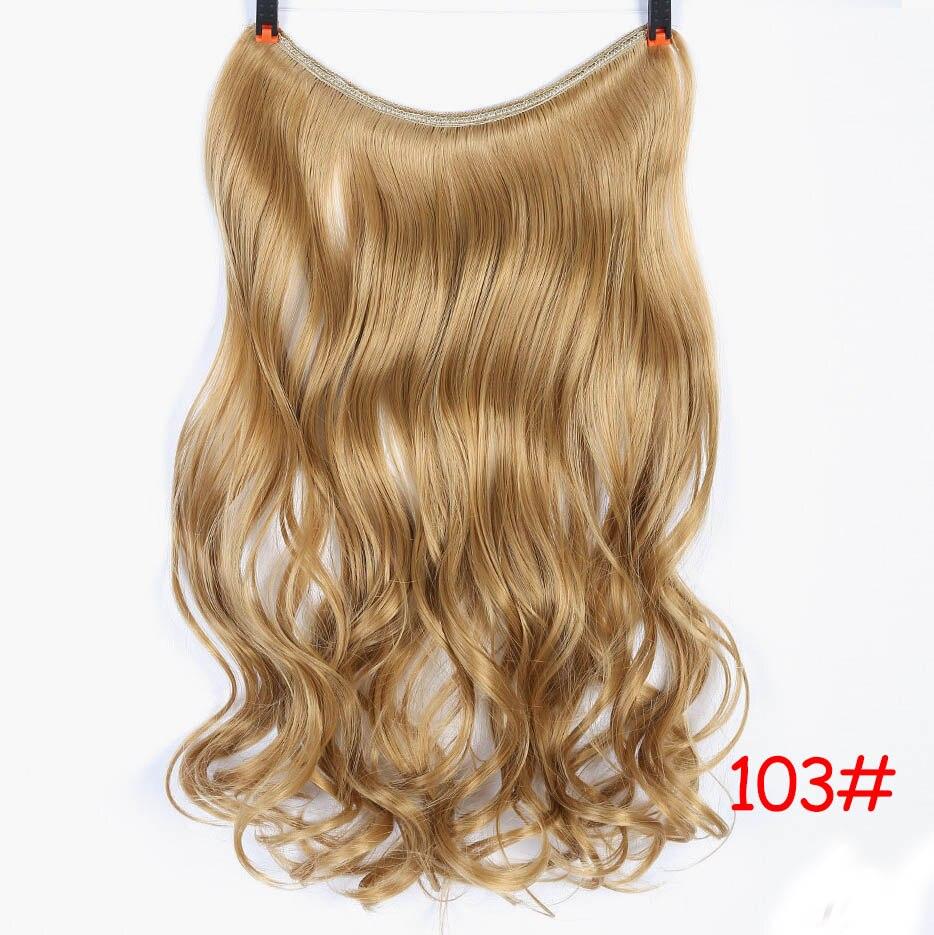 """SHANGKE 2"""" флип-на проволоке в синтетическом скрытом невидимом не клип в головном повязке прямые высокотемпературные волокна для наращивания волос - Цвет: #27"""
