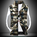 Men Stand Collar Camouflage Vest Men Winter Sleeveless Casual Jackets Men Women Slim Waistcoats