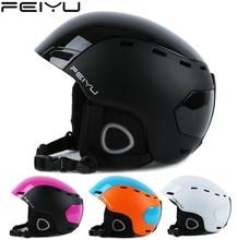 AS FISH Portable Ski Helmet Integrally-molded Snowboard Sports Helmet Men Women Skating Skateboarding Skiing Helmet недорого