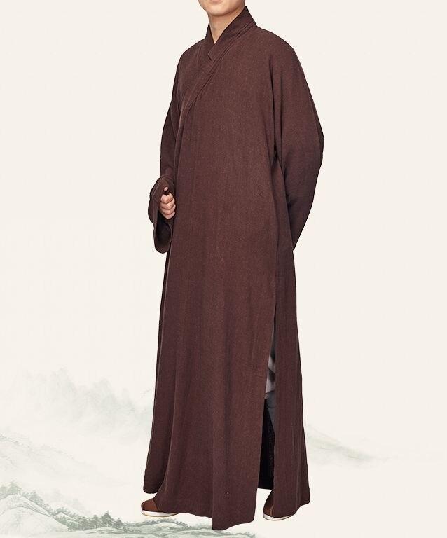 Trainings- & Übungs-jacken Jacken Unisex Baumwolle & Leinen Buddhistischen Mönche Anzüge Robe Buddhismus Zen Uniformen Shaolin Kung Fu Kleidung Kleid Kleidung Kaffee/braun