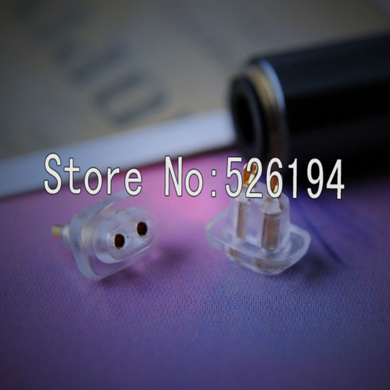 Free shipping one pair Female Port Socket 0.75mm Earphone Pins Plug For DIY Ultimate UE TF10 5pro sf3 Cable
