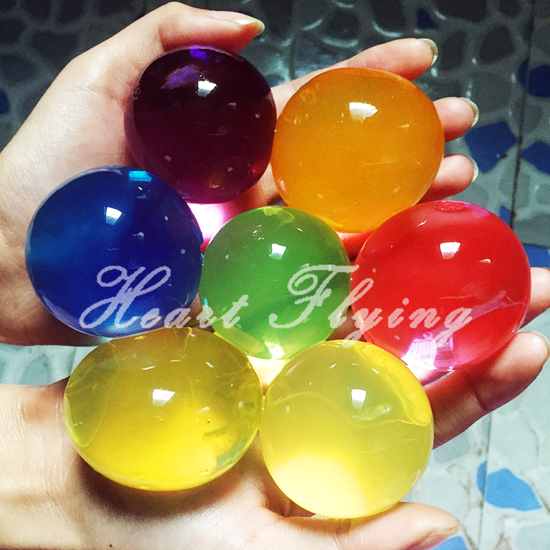 10 pcs Big Crystal Soil Kids Toy Water Beads Growing Up Water Balls Mud Hydrogel Gel Home Flower Decoration