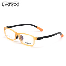 Children Eyeglasses Optical-Frame Eagwoo Lenses Sepectacle Silicon Boy Girl Small Orange