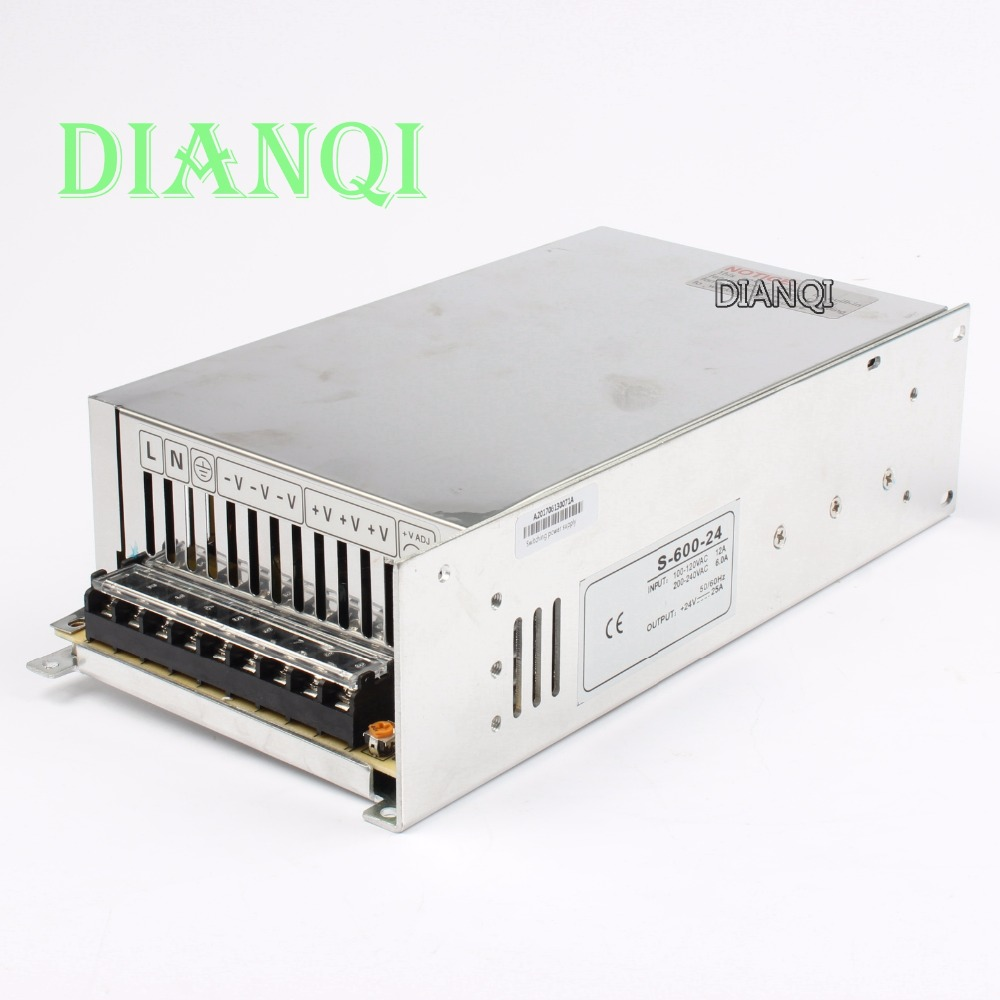 цена на 12V 13.5V 15V 48V switching power supply 25A power suply 24v 600w ac to dc Input 220v or 110V converter high quality S-600-24