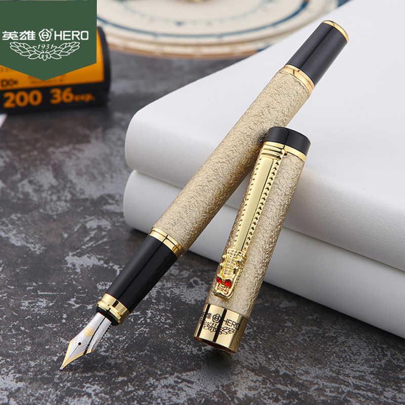 شحن مجاني 2019 جديد وصول العلامة التجارية بطل قلم حبر المعادن التنين كليب الأعمال الكتابة العلامة التجارية قلم مزود بمشبك شراء 2 أقلام ترسل هدية