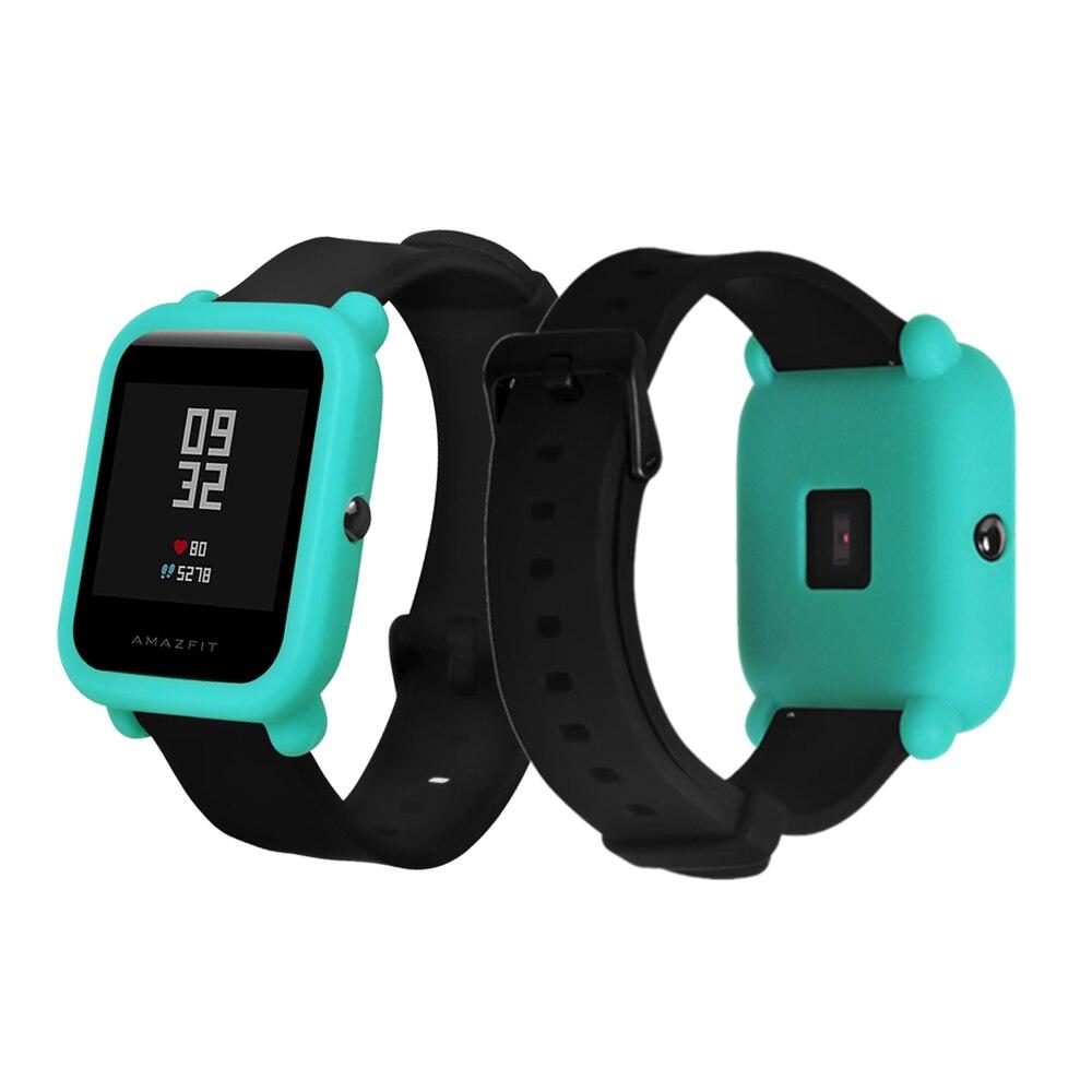 FIFATA защитный силиконовый мягкий чехол для Xiaomi Huami Amazfit Bip бит Молодежные часы замените крышку для Amazfit часы Accessoriess