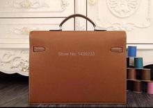 high end Genuine Cowhide Leather Men Briefcase Messenger Bag, Luxury Quality Genuine leather men Laptop Bag 14inch laptop bag