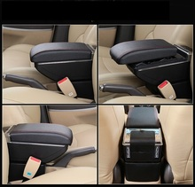 One  key rise and fall case lengthened 7 USB LED power increased multifunctional automobile armrest box for VolkswagenPolo