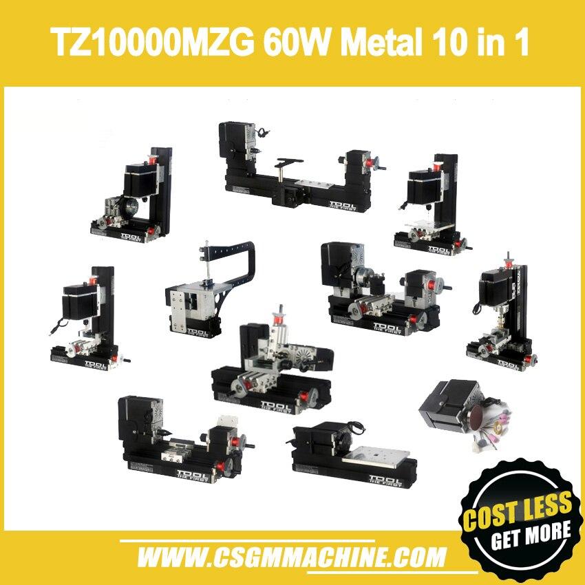TZ10000MG 60W Metal 10 in 1 Mini lathe with Bow Arm/60W,12000rpm Mini Bow-arm 10in1 Metal lathe MachineTZ10000MG 60W Metal 10 in 1 Mini lathe with Bow Arm/60W,12000rpm Mini Bow-arm 10in1 Metal lathe Machine