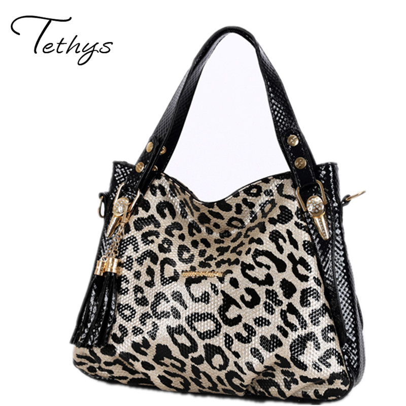 Women shoulder bags large capacity messenger bags PU leather handbags luxury leopard ladies bags female totes sac a main 2017 kadell brand luxury women leather handbags bolsa feminina large capacity elegant ladies shoulder bag for business paty totes