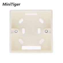 Внешняя Монтажная коробка Minitiger 86 мм* 86 мм* 34 мм для 86 мм стандартного сенсорного переключателя и розетки применяется для любого положения поверхности стены