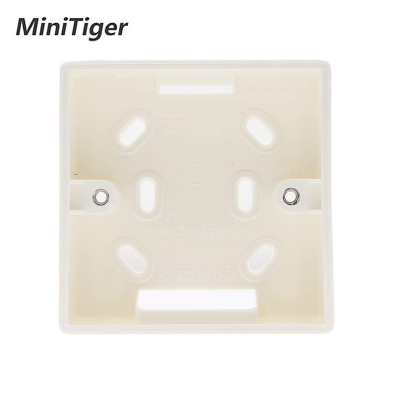 Minitiger External Mounting Box 86mm*86mm*34mm For 86mm Standard Touch Switch And Socket Apply For Any Position Of Wall  Surface