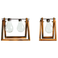 Creative Retro Transparent Glass Vase Decoration Home Living Room Bedroom Study Desktop Crafts Ornaments Students Birthday Gifts