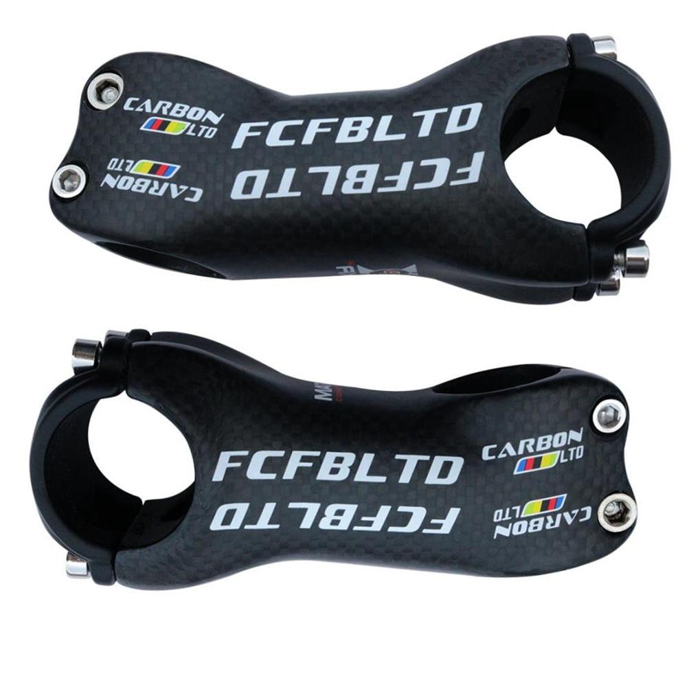 FCFB 3 K tige de vélo de montagne de route en carbone mat 6 degrés 17 degrés 25.4mm x 70/80/90/100/110/120/130mm tige de cyclisme