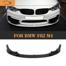 Auto de Fibra de carbono del Parachoques Delantero Lip Spoiler Difusor con Splitters para BMW F80 F82 F83 M3 M4 14-17 negro FRP