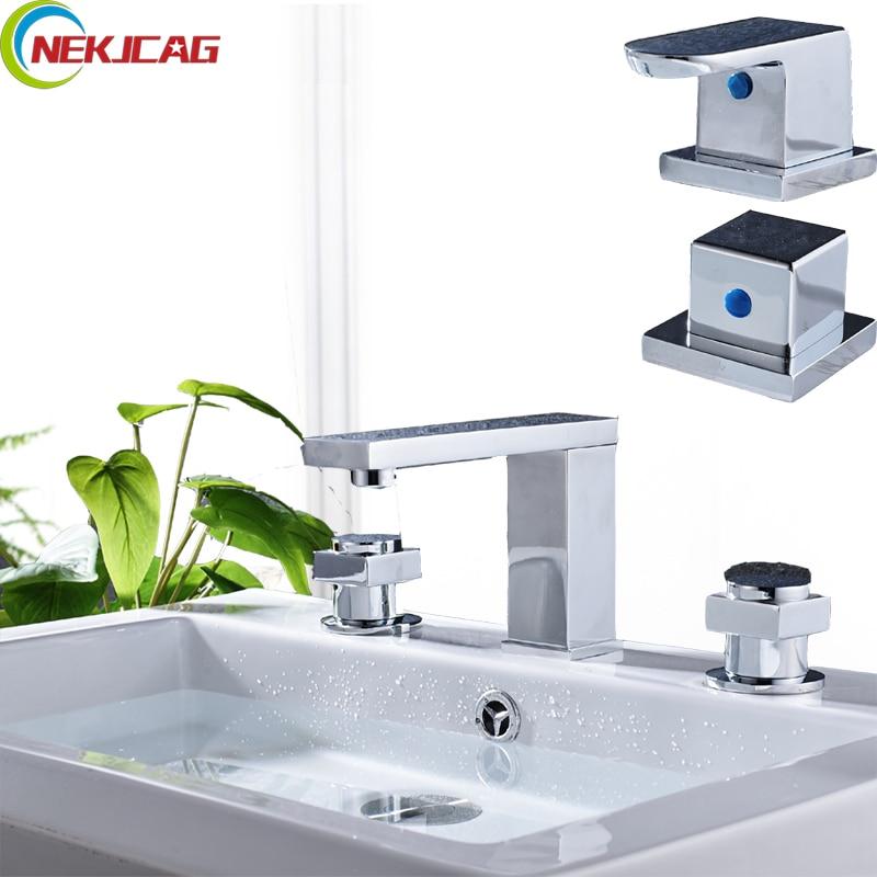 Deck Mounted Bathtub Faucet 3 Hole Dual Handle Widespread Waterfall Bathtub Sink Faucet Torneira Mixer цена