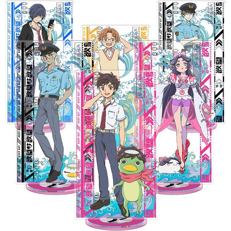 Anime SARAZANMAI Yasaka Kazuki Kuji Toi Jinnai Enta Keppi Niiboshi Reo Acrylic Stand Figure Desk Decor Model Plate Gifts