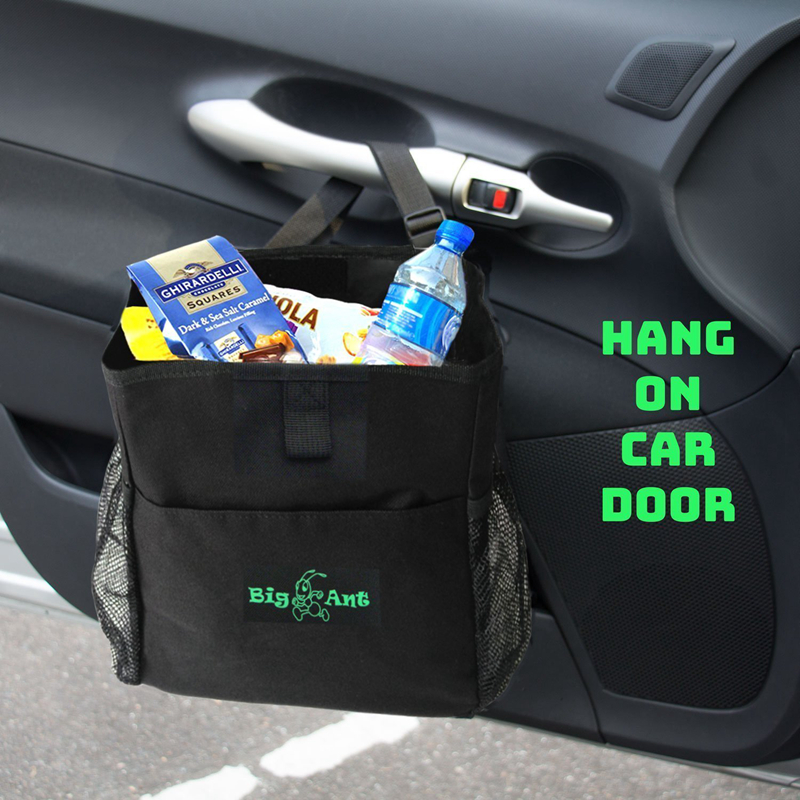 Ant Car Seat Organizer Waterproof Trash Bag For Little Leak Proof Cooler Garbage With Side Pocket Black In Stowing Tidying From