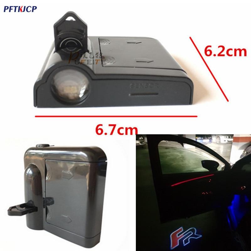 2/pcs LED car door courtesy Ghost Shadow Light lamp laser projector logo light for SEAT LEON FR FR+ CUPRA Alhambra Ibiza