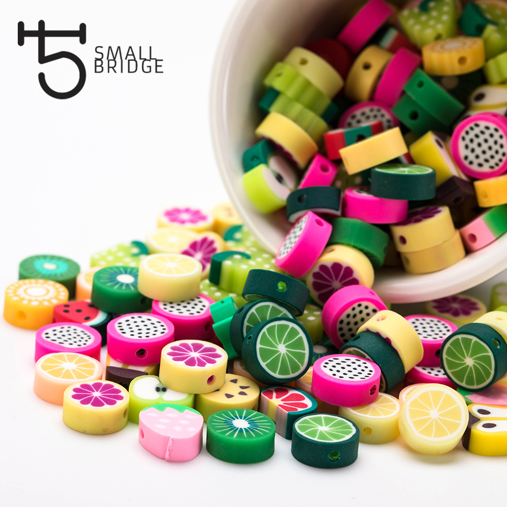 Us 2 26 50 Off Colorful Fruit Fimo Polymer Clay Beads Jewelry Making Bracelet Diy Accessories For Girl Mix Design Loose Spacer Beads C302 In Beads