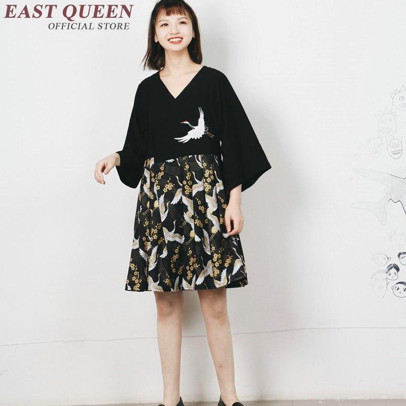 Japan kleid Kimonos damen Japanischen stil kleid Drei viertel nette ...