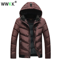 NEW WWKK Thick Jacket Winter Parkas Jackets Men's Warm Causal Parka Cotton Male Winter Jacket Men's Padded Coat for Teen Clothes