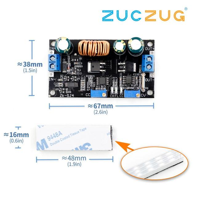 4,8 30V Solar Ladegerät Lade Controller DC DC Spannung Einstellbar Schritt Up und Unten Automatische Boost/buck Converter Power Module