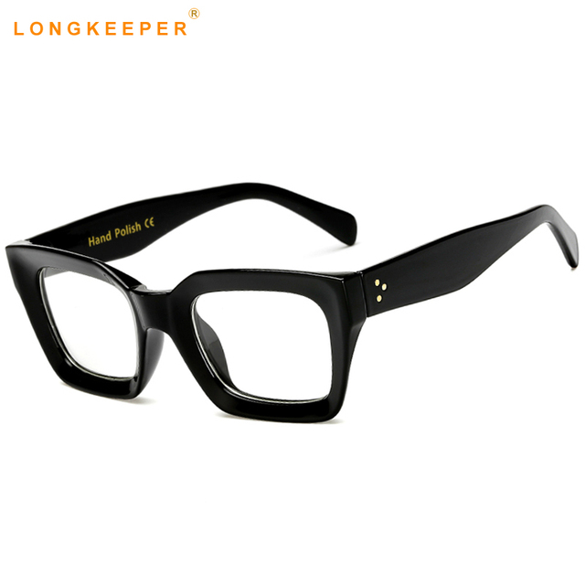 f103e0d263 Long Keeper Ladies NEW Cat Eye Glasses Frames Square Men Women Brand  Designer Optical Clear Lens EyeGlasses Fashion Eyewears