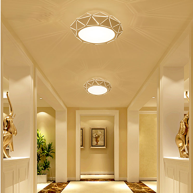 T NEW Luxury Crystal Ceiling Lights With LED Chips Aisle Lamps For Living Room Foyer Bedroom Restaurant Aisle Corridor