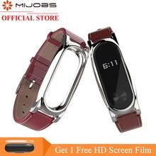 Mijobs PU Leather Strap for Xiaomi Mi font b Band b font 2 Strap for Mi