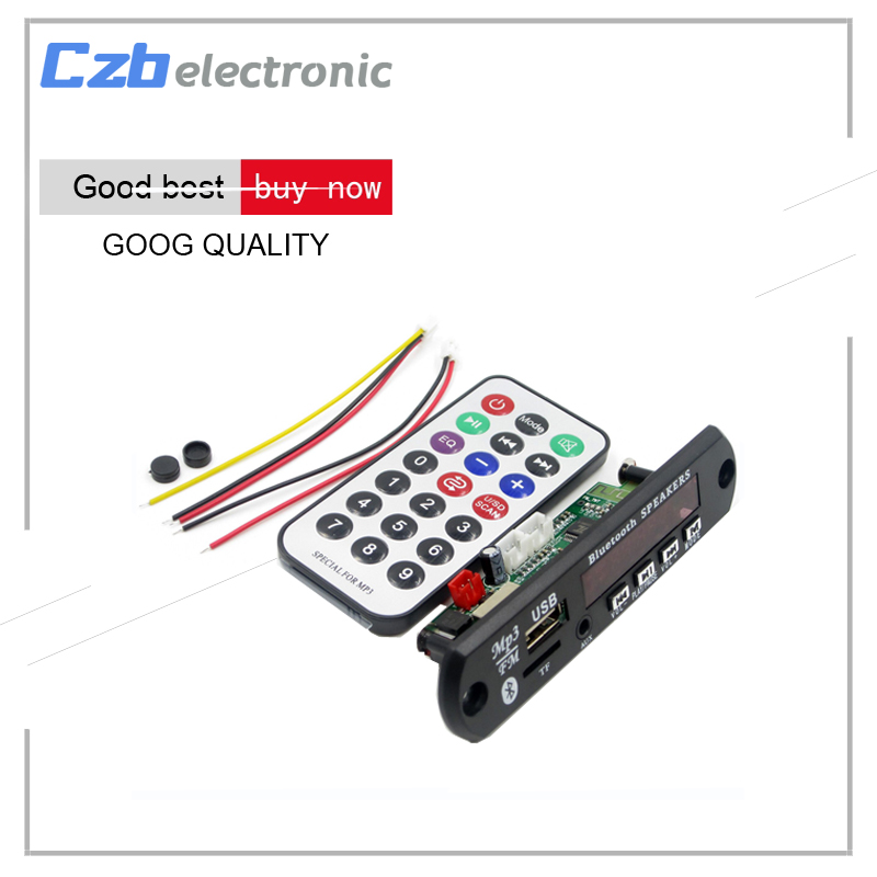 где купить 1Set Standard Wireless Bluetooth 12V MP3 WMA Decoder Board Audio Module TF USB Radio For Car по лучшей цене