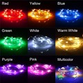 2 M/5 M LED Luz de Hadas USB Powered 20/50 LED Luces de Cadena de Alambre de Metal de Plata Multicolor de Navidad de La Boda Party Decor DC5V