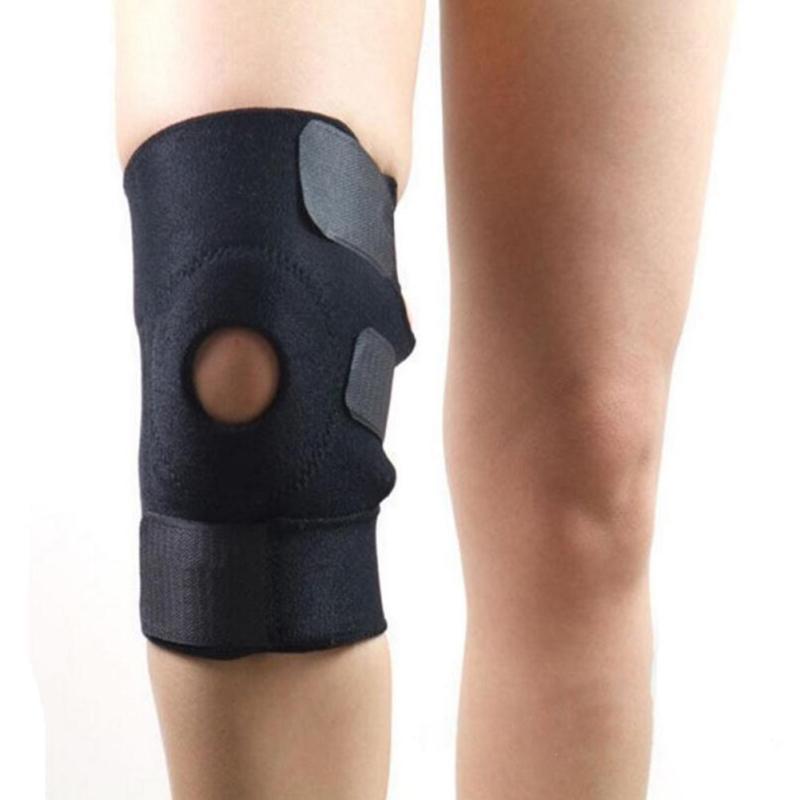 1Pc Adjustable Leg Knee Support Brace Wrap Knee Pads Patella Protector Braces Knee Belt Kneecap Black Neoprene Blue R3