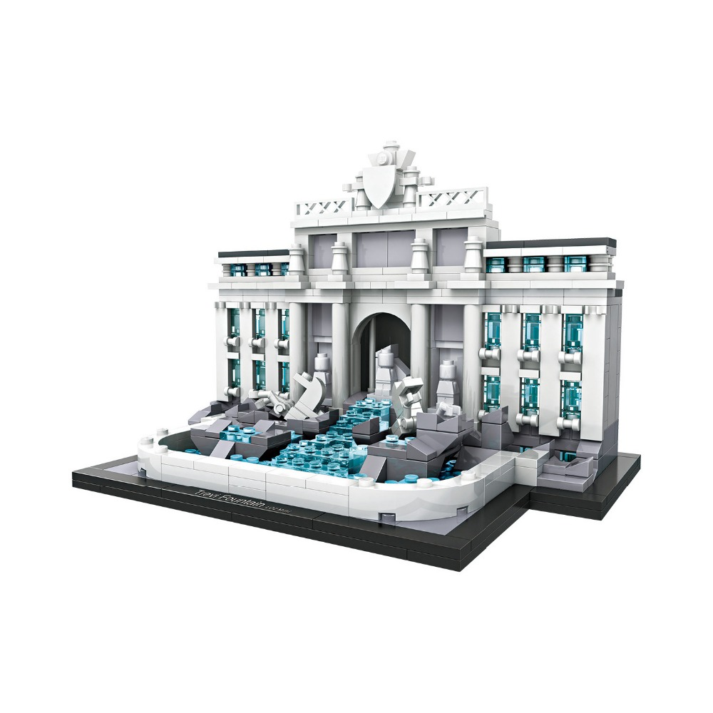 2018 Fontana di Trevi Rome Italy DIY nanoblock toys LOZ mini diamond worlld famous Architecture building block for kids loz mini diamond building block world famous architecture nanoblock easter island moai portrait stone model educational toys
