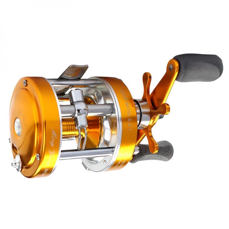 Carretel de pesca tambor de metal completo