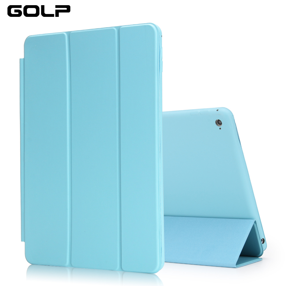 Custodia per iPad Mini 4, GOLP Perfect Custodia in pelle Smart Cover completa flip cover protettiva per iPad Mini 4 case