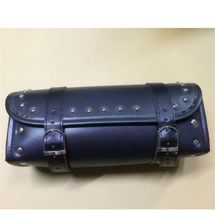 black round retro scooter head bags parts motorbike tail bag moto saddlebag unviersal for harley leather motorcycle tool bag