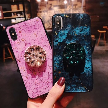 For iPhone XS Max Cover UYFRATE Shiny Glitter Smooth Marble Kickstand Case For iPhone XS Max XR XS X 8 8 Plus 7 7Plus 6 6S Plus