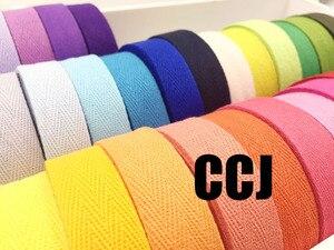 Image 2 - 36 צבעים 20mmx50yard חגורה כותנה אריג אדרה גבתון סינר קלטת תפירת רצועת משלוח חינם