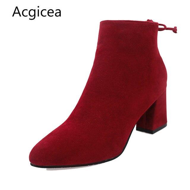 63943e0f27 Size34-40 2018 Nova Bota do Tornozelo das Mulheres Do Vintage Primavera  Outono Bowtie Sapatos