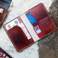 Genuine Leather Passport Cover Travel Wallet Handmade Vintage Case Passport Holder Covers for Documents Passport Protector