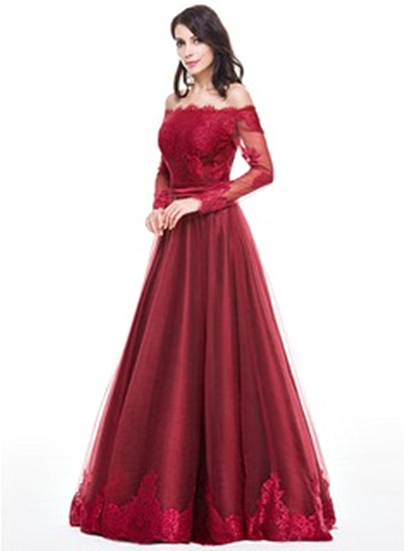 Wedding Red Evening Gown aliexpress com buy red evening dress elegant cap sleeve gown beautiful lace a line long party dresses formal dr