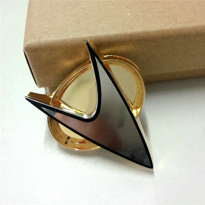 Cosplay Star Trek Badge Star Trek La Prochaine Génération Communicator Insignia Badge Pin Broche Alliage de Zinc Métal Halloween Prop