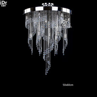 Upscale hotel penthouse floor gilded crystal lamps ERIN nickel 15 Ceiling Lights wwy 0481