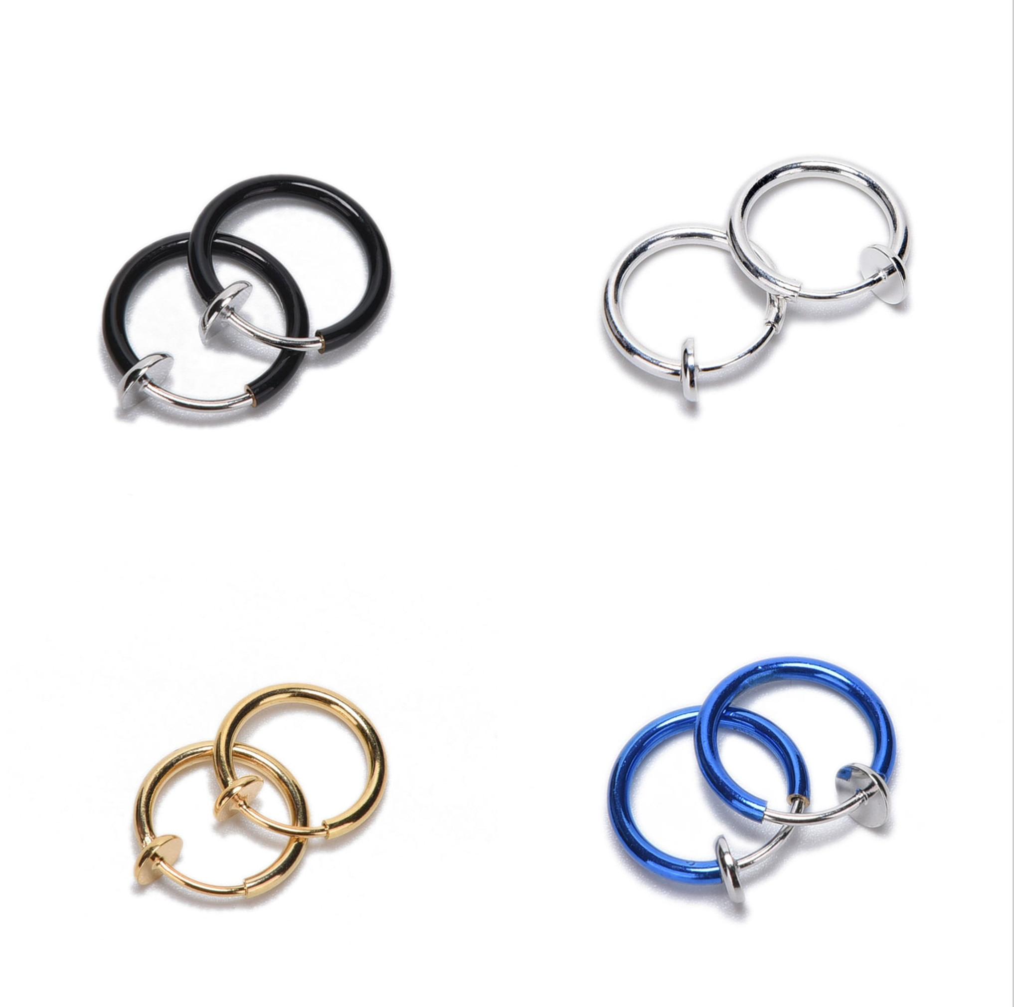 8x Rhinestone titanium body jewelry navel ring T1